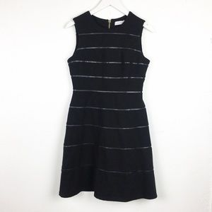 Calvin Klein Women's Size 6 Black A-Line Dress